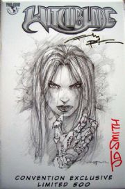 Witchblade #53 Wizard World East Convention Sketch Signed Park & Smith COA